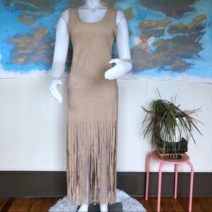 Maxi fringe dress